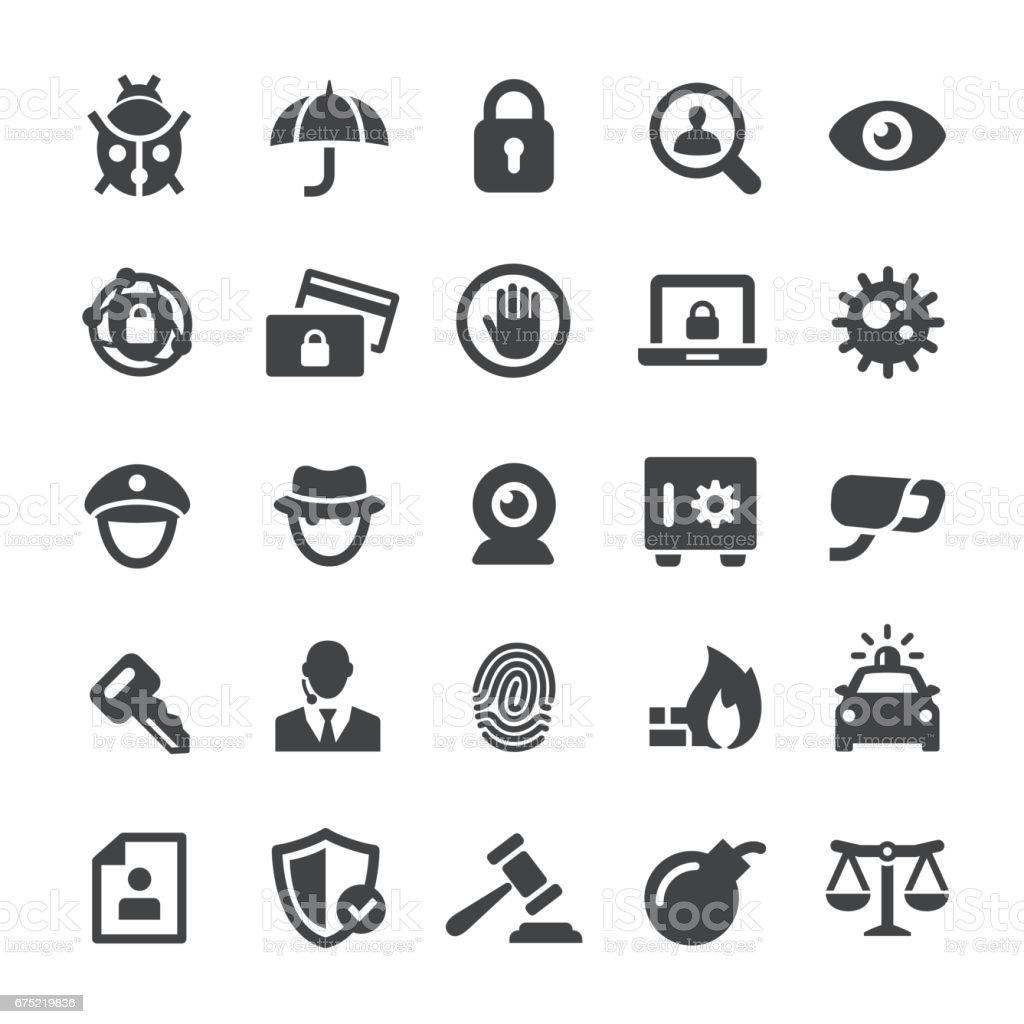 Security-Symbole - Smart-Serie – Vektorgrafik