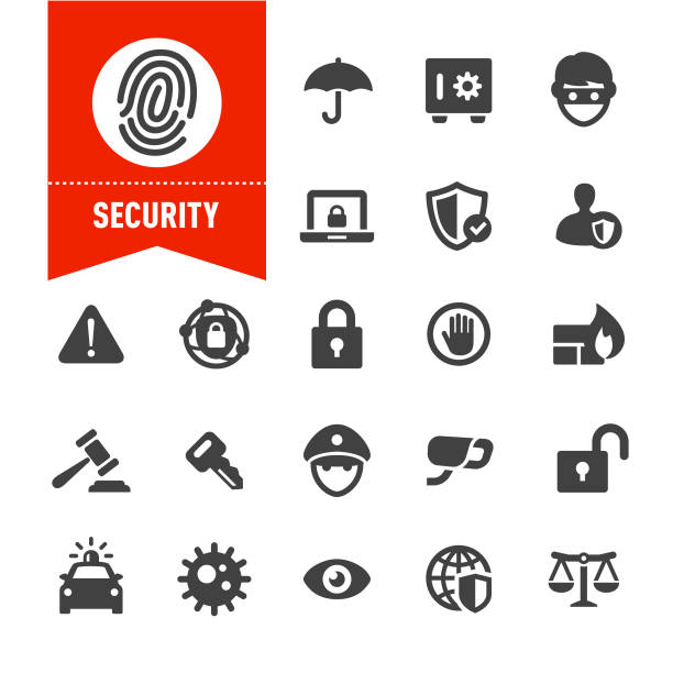 Security Icons - Special Series Security, safety deposit box stock illustrations