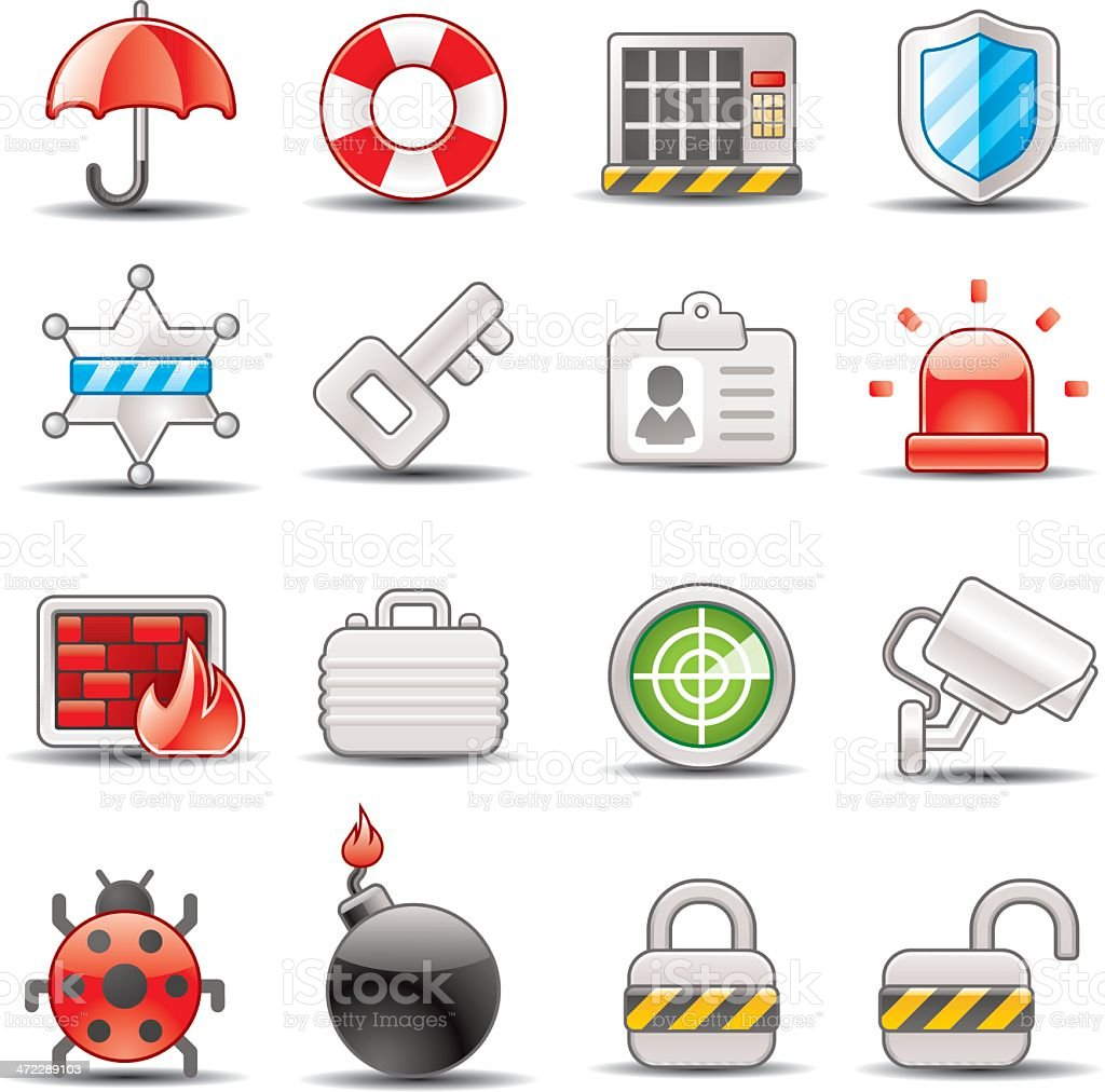 security icons royalty-free security icons stock vector art & more images of badge