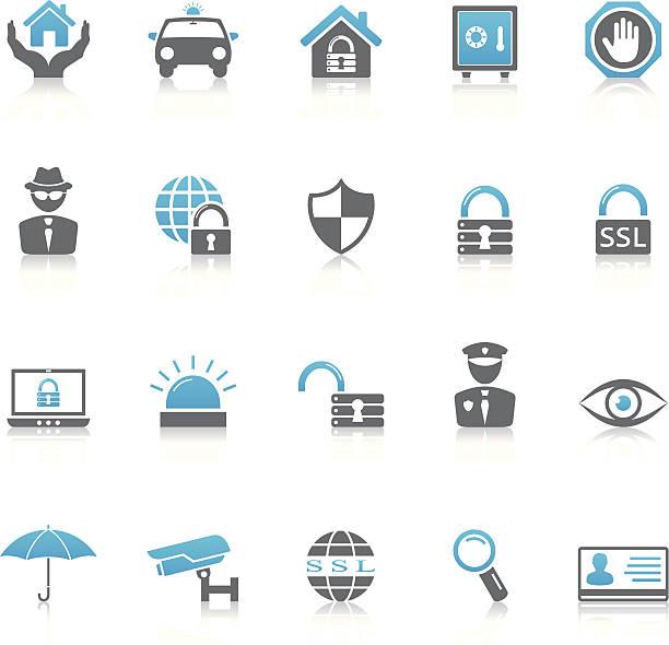 セキュリティのアイコン - id盗難点のイラスト素材/クリップアート素材/マンガ素材/アイコン素材