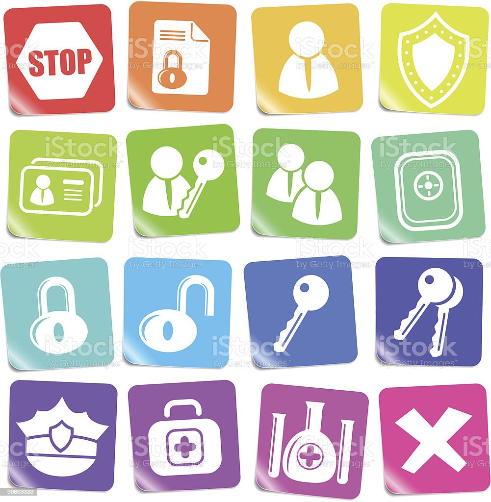 Security icons royalty-free security icons stock vector art & more images of bunch