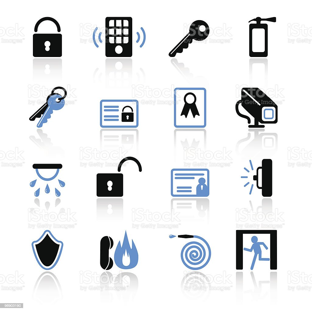 security icons royalty-free stock vector art