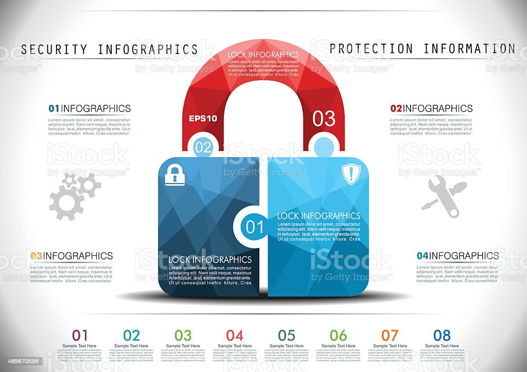 Security Infographics vector art illustration