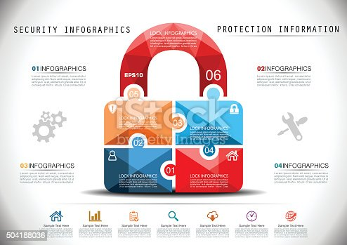 Protection Infographics in Mosaic Style.