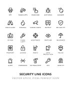 Security Line Icons Vector EPS 10 File, Pixel Perfect Icons.