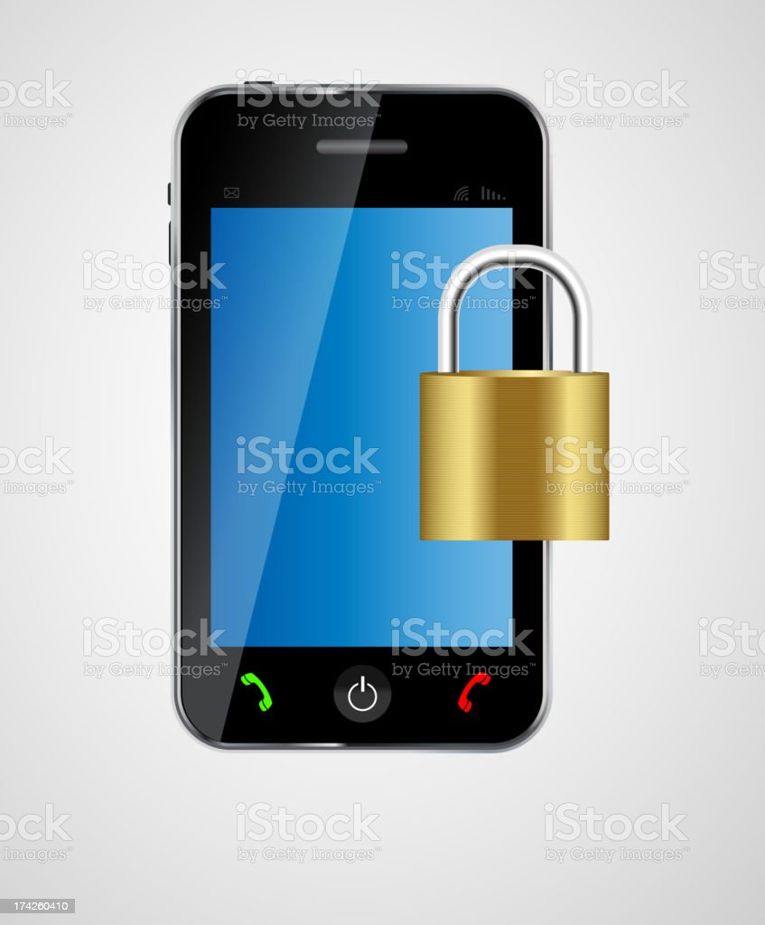 security phone concept vector illustration royalty-free stock vector art