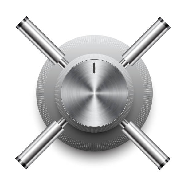 Security safe Security safe safes and vaults stock illustrations