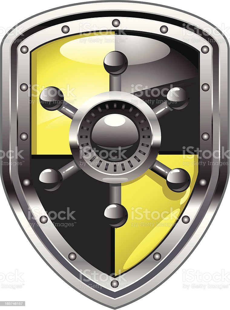 security shield and vault royalty-free stock vector art