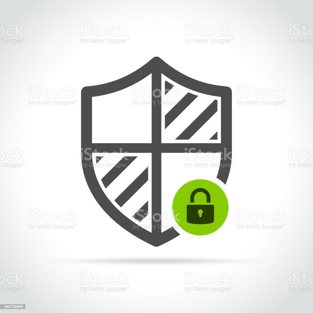 security shield icon on white background royalty-free security shield icon on white background stock vector art & more images of antivirus software