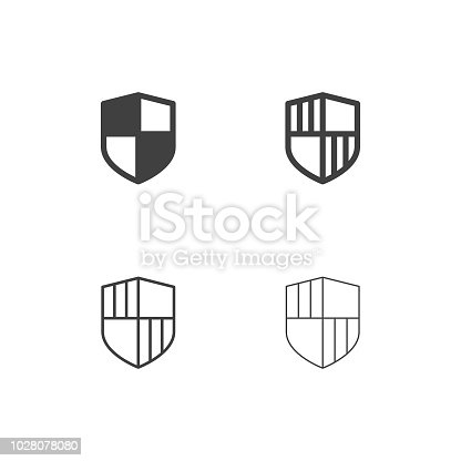 Security Shield Icons Multi Series Vector EPS File.