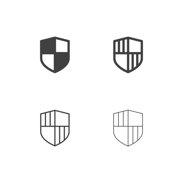 Security Shield Icons - Multi Series Security Shield Icons Multi Series Vector EPS File. shield stock illustrations