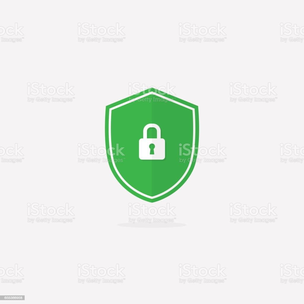 Security Shield Vector Icon vector art illustration