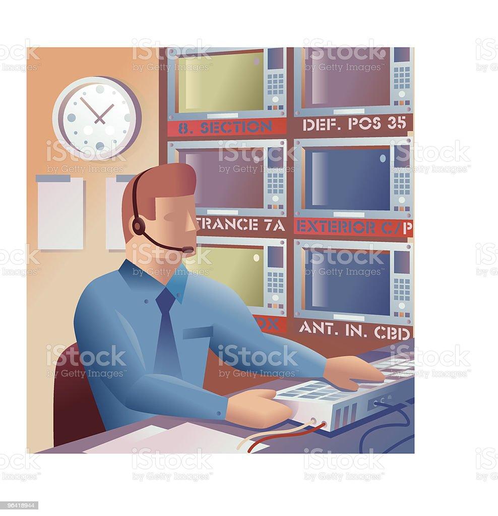 Security + surveillance vector art illustration
