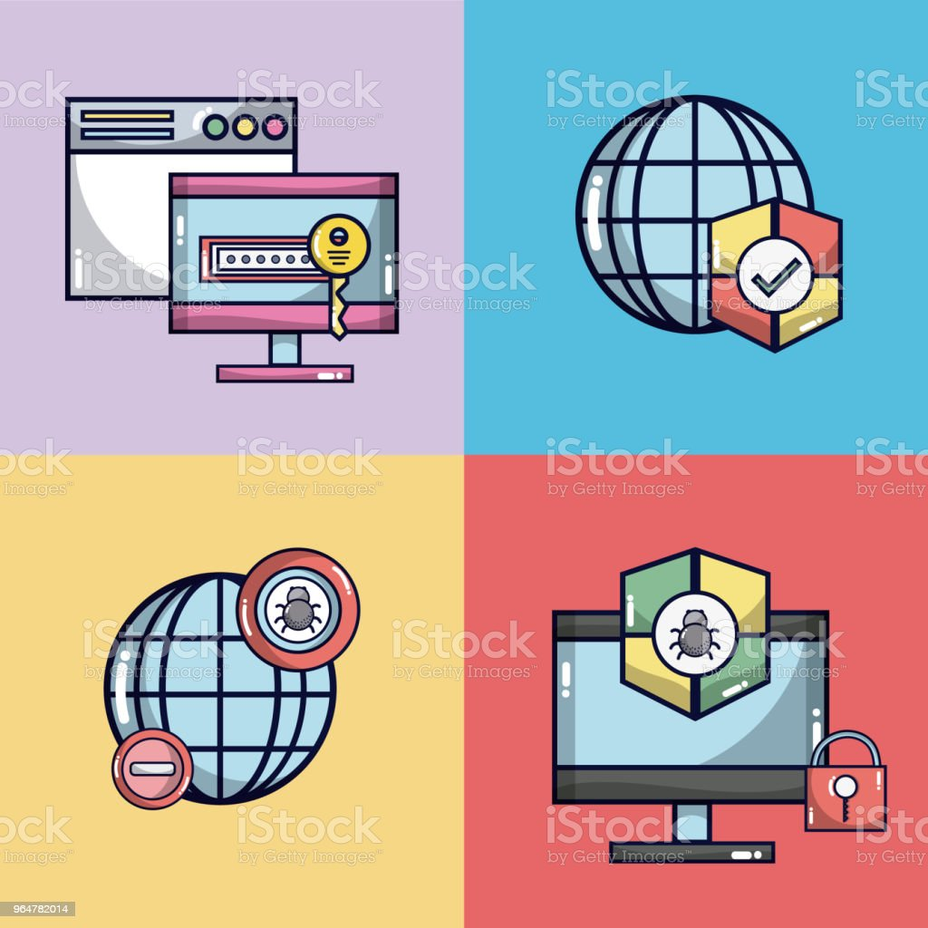 Security system for electronic devices royalty-free security system for electronic devices stock vector art & more images of antivirus software