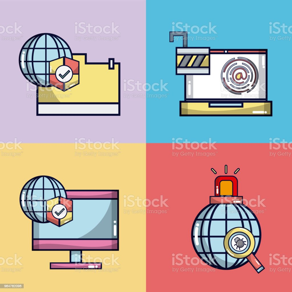 Security system for electronic devices royalty-free security system for electronic devices stock illustration - download image now