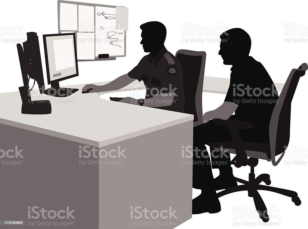 Security Team vector art illustration