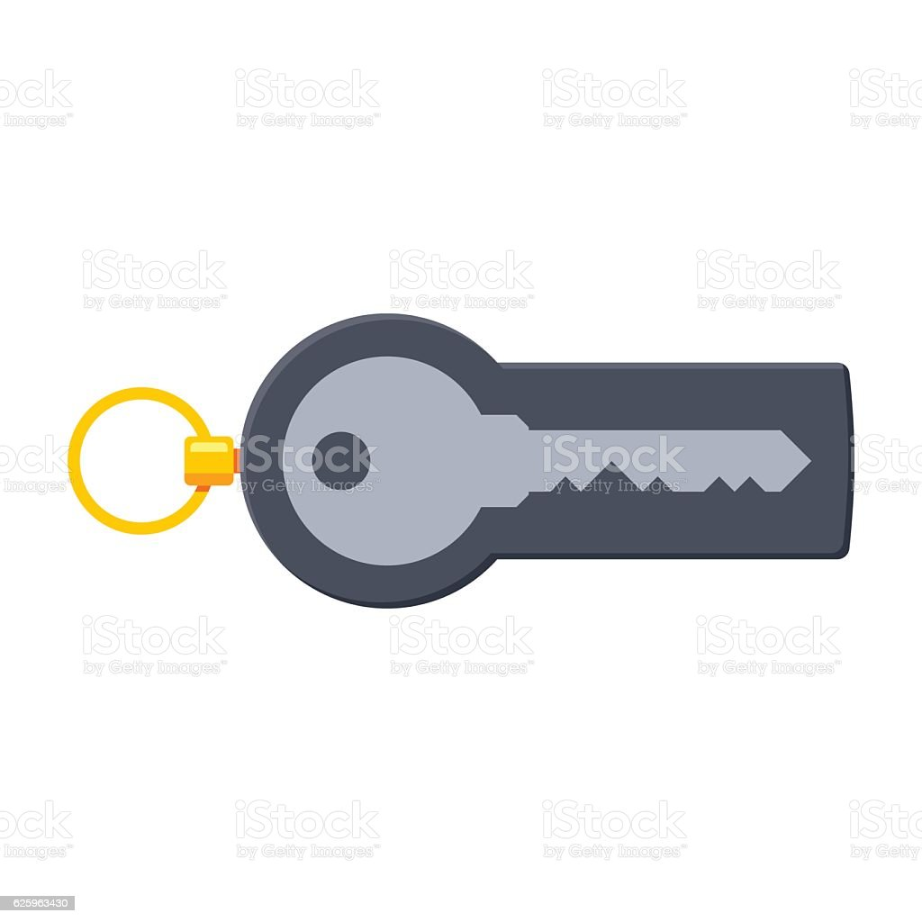 Security Token Concept vector art illustration