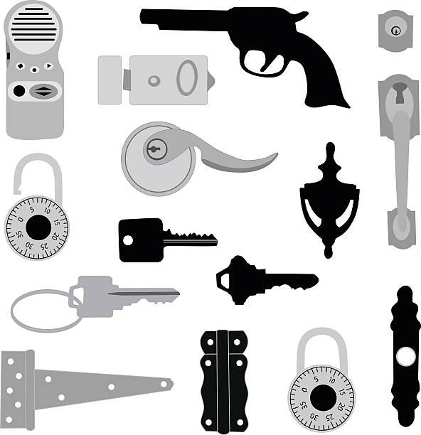sicherheit - türklopfer stock-grafiken, -clipart, -cartoons und -symbole