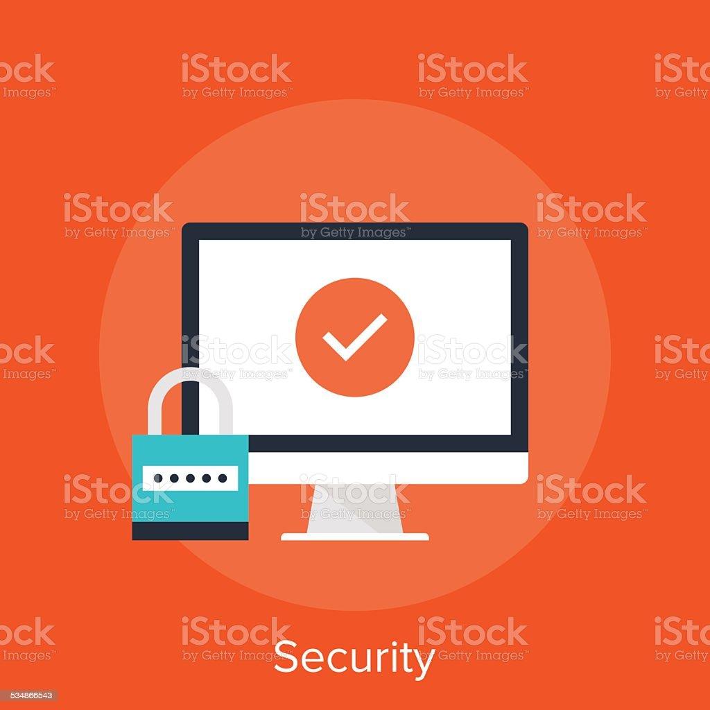 Security vector art illustration