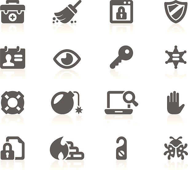 Security_Gracy series_15 Set of 16 professional security icons for web applications, web presentation and more. File includes: vector EPS, PNG, JPG. inconvenience stock illustrations