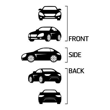 Sedan car icons