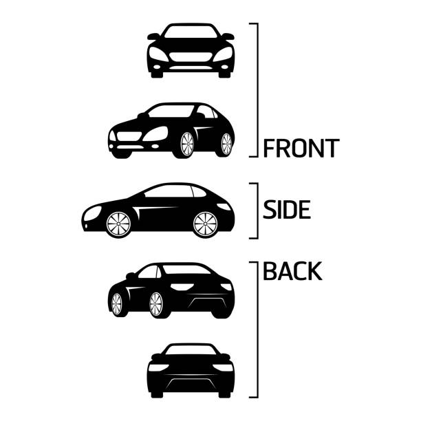 セダン車アイコン - 車点のイラスト素材/クリップアート素材/マンガ素材/アイコン素材