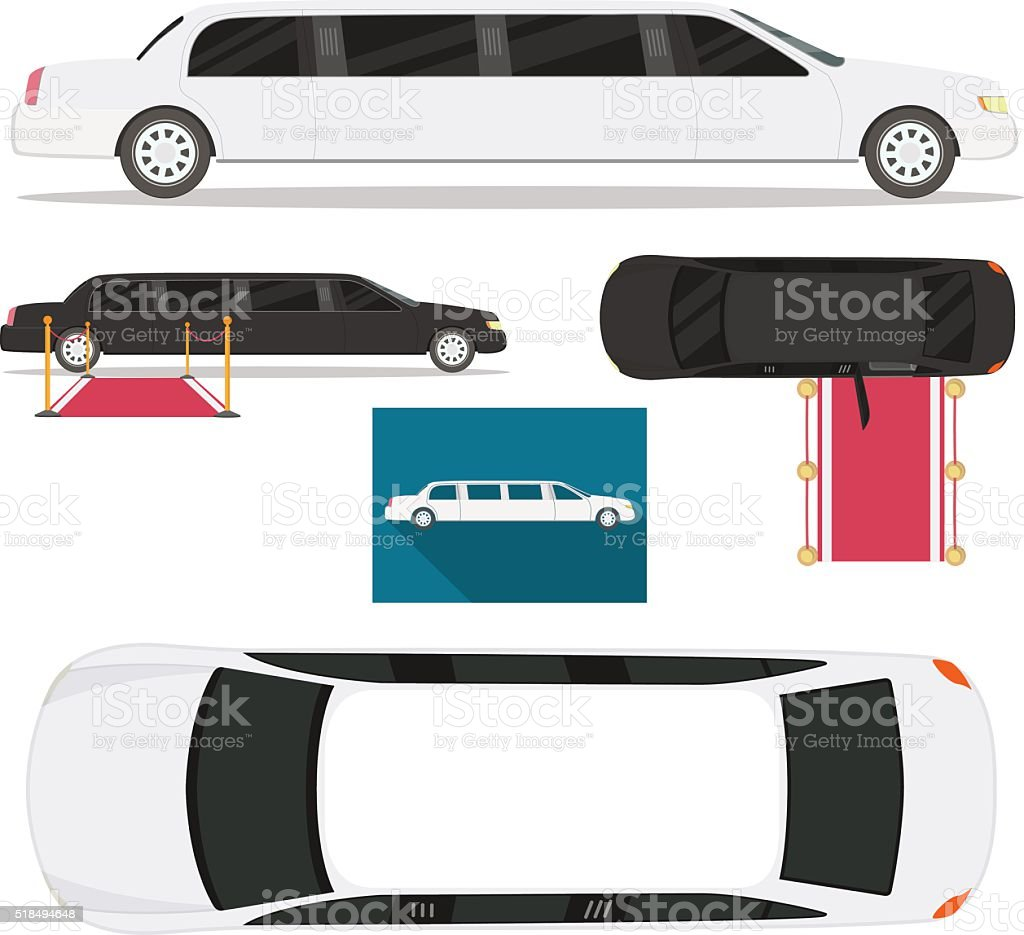 Limousine vector art illustration