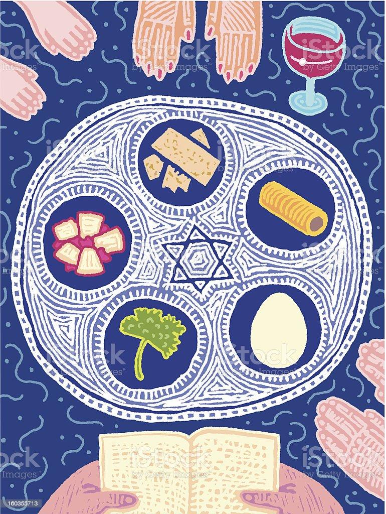 Seder vector art illustration