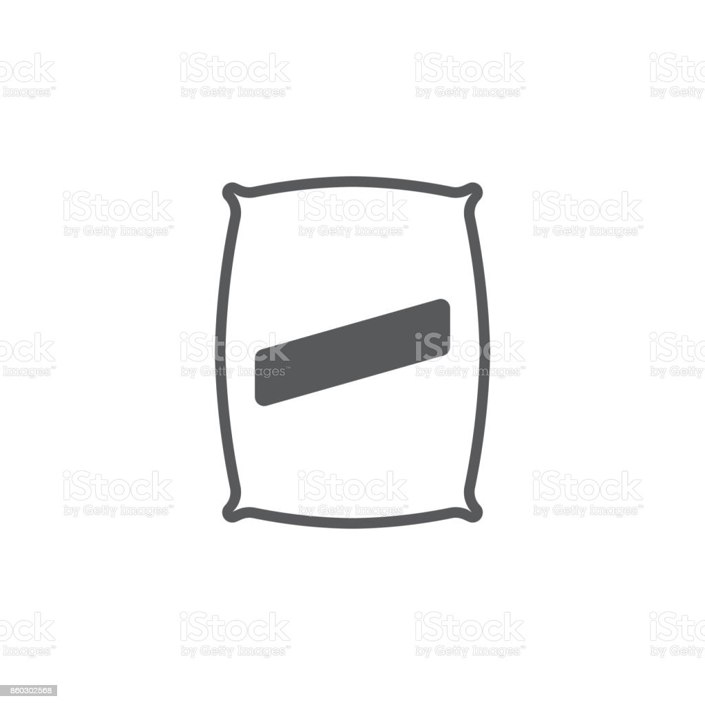 Seed bag icon vector art illustration