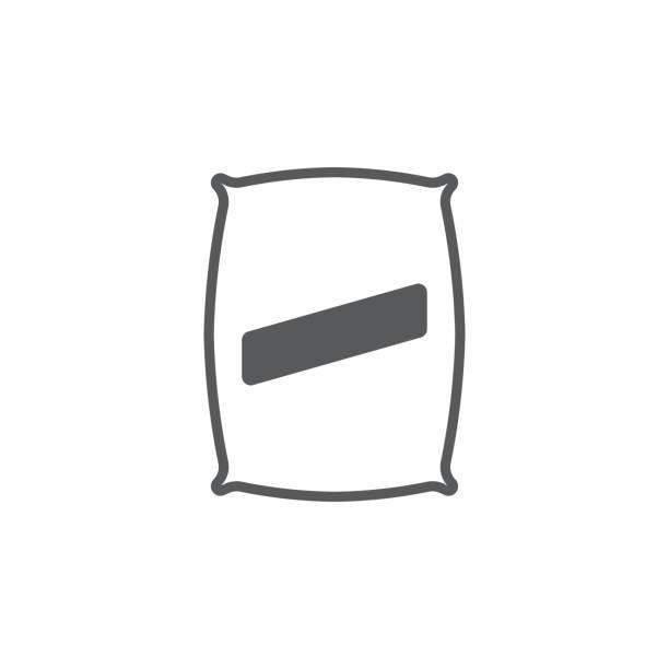stockillustraties, clipart, cartoons en iconen met zaad tas pictogram - zak tas