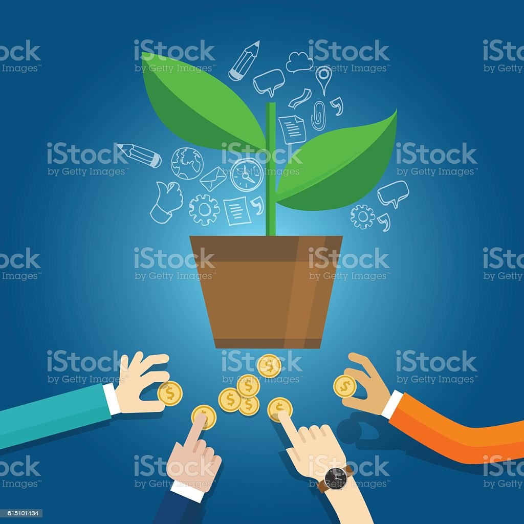 seed funding start-up early stage investment venture capital vector art illustration
