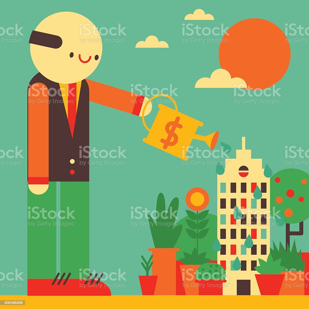 Seed Money vector art illustration