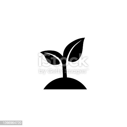 istock Seeding icon. Sprout. Ecology concept. Vector on isolated white background. EPS 10 1266964720