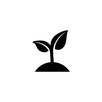 Seeding icon. Sprout. Ecology concept. Vector on isolated white background. EPS 10.