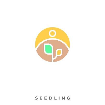 Seedling Illustration Vector Template