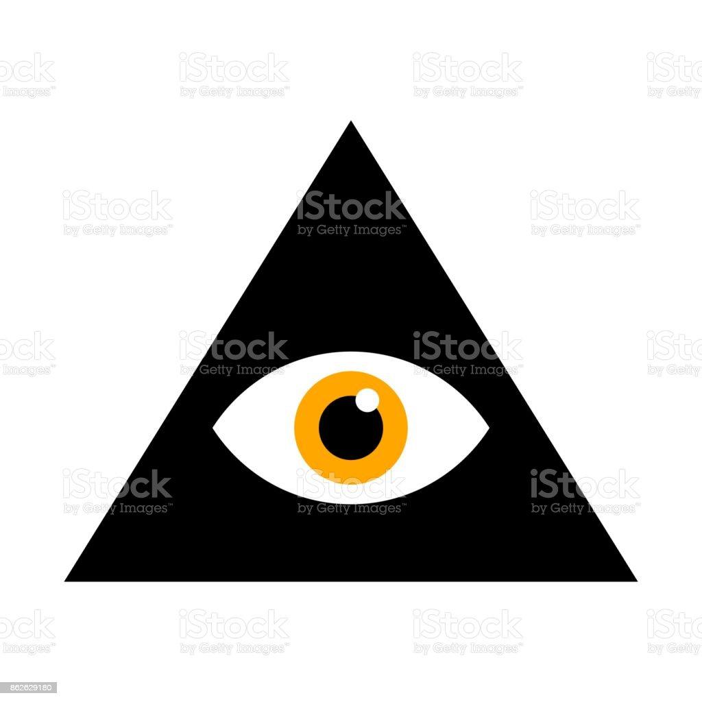 Seeing eye all seeing eye inside triangle pyramid vector all seeing eye inside triangle pyramid vector illustration masonic symbol royalty buycottarizona Image collections