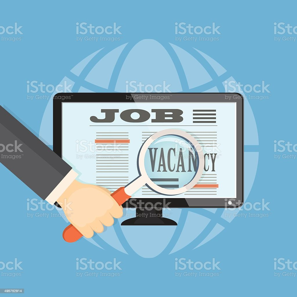 Seek A Job Stock Illustration - Download Image Now - iStock