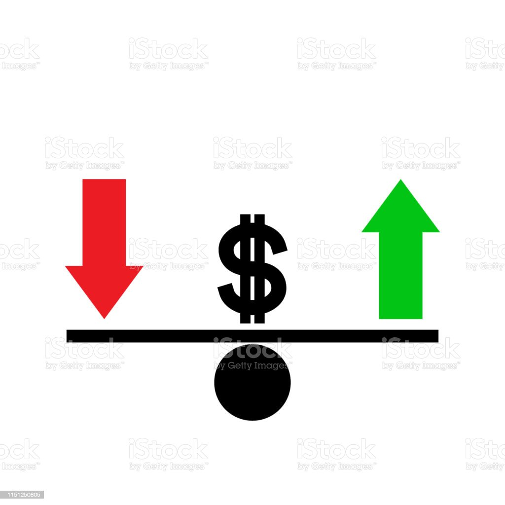 Seesaw Dollar Exchange Rate Fluctuation Concept Stock