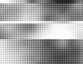 Segmented halftone background