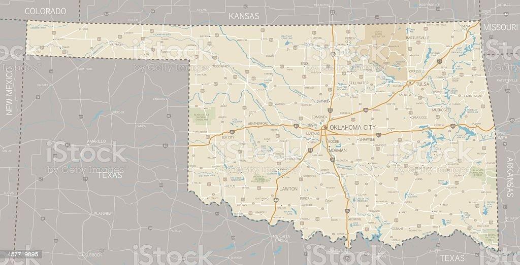 A segmented map of Oklahoma next to Texas royalty-free a segmented map of oklahoma next to texas stock vector art & more images of arkansas river