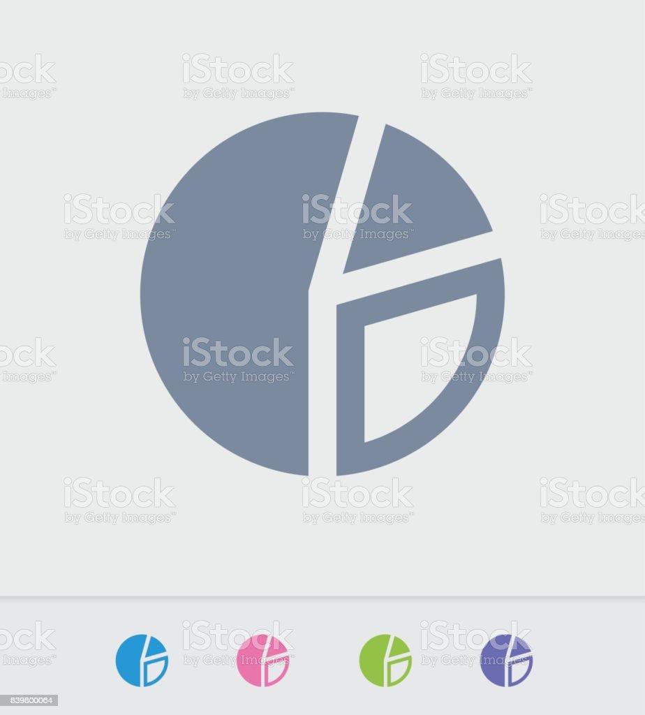 Segmented Pie Chart - Granite Icons vector art illustration