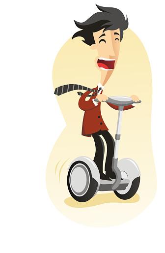 Segway riden by Happy Man