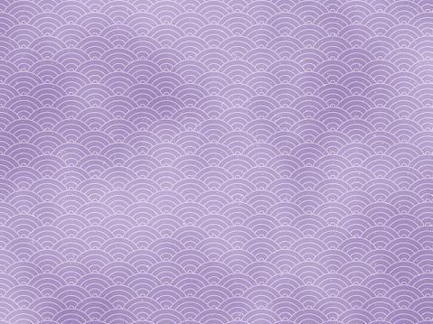 Seigaiha pattern purple color background