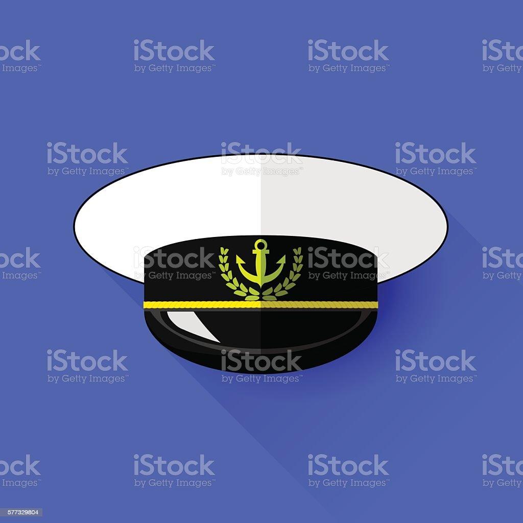Seilor Hat Icon Isolated vector art illustration