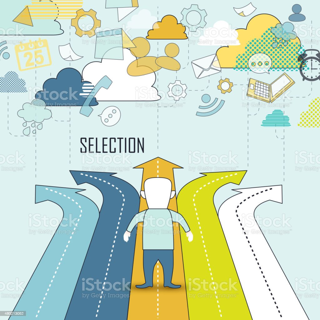 selection concept vector art illustration