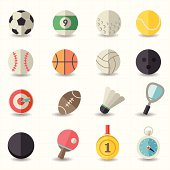 Selection of colored sports icons