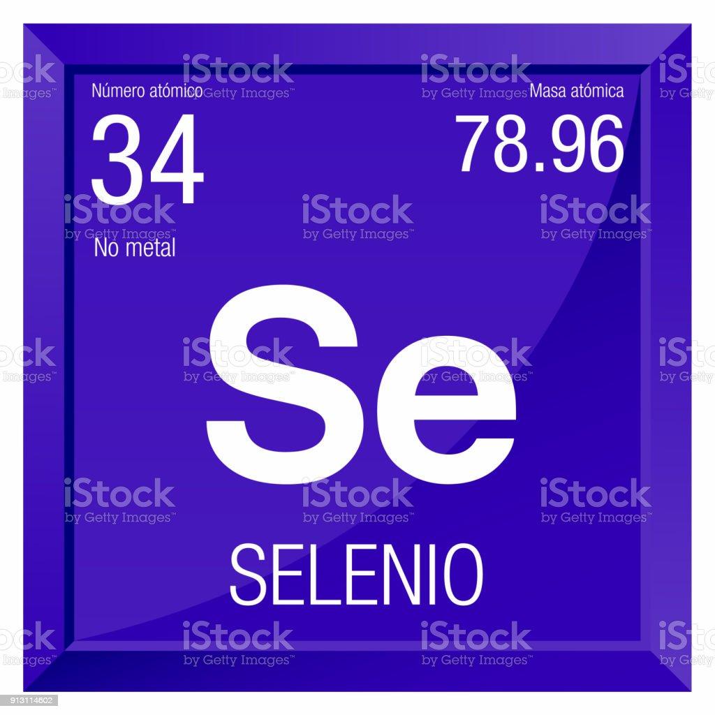 Ilustracin de smbolo del selenio el selenio en lengua espaola smbolo del selenio el selenio en lengua espaola elemento nmero 34 de la tabla urtaz Images