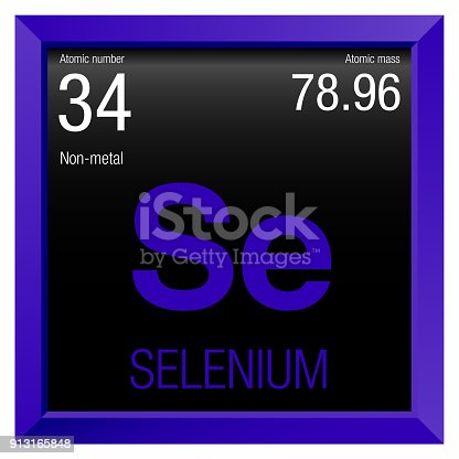 Selenium Symbol Element Number 34 Of The Periodic Table Of The