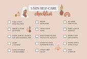 istock Self care checklist. Self love and self care ideas. Vector 1290514622