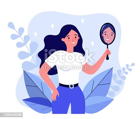 istock Self centered woman suffering from narcissism 1208400096
